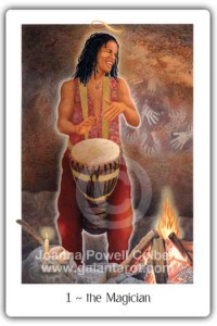 The Magician from the Gaian Tarot by Joanna Powell Colbert
