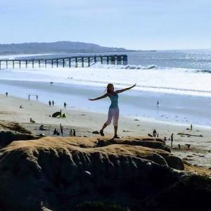 San Diego Nia teacher, Kriszti VanSlyke, at Pacific Beach