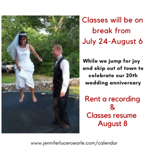 Classes on break anniversary