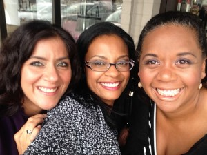 Left to right: Jennifer Lucero-Earle, Tai Velasquez and Soul Light founder, Daveda Russell