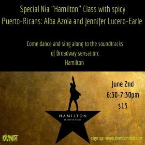 Special Nia _Hamilton_ Class with Perto-Ricans Alba Azola and Jennifer Lucero-Earle
