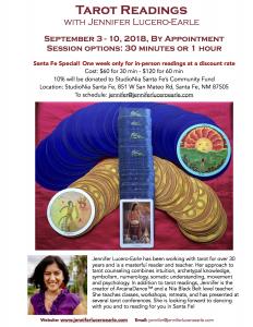 Tarot Readings with Jennifer_Santa Fe 2018