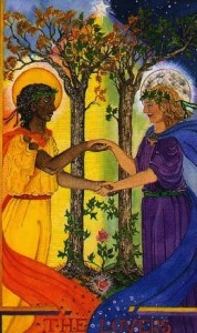 The Lovers from the Wheel of Change Tarot