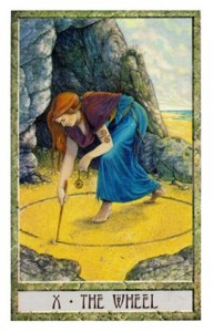 The Wheel from the DruidCraft Tarot