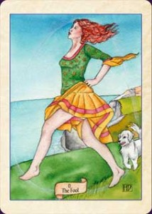 The Fool from the Fellowship of the Fool Tarot