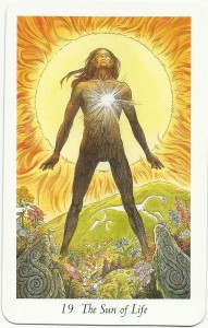 The Sun of Life from the Wildwood Tarot