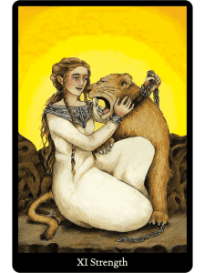 Strength from the Anna K Tarot