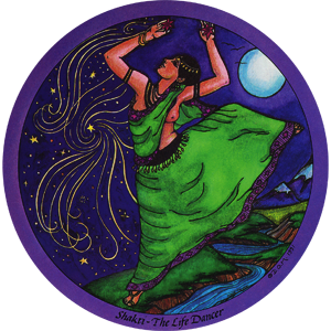 Shakti - The Life Dancer from the Daughters of the Moon Tarot