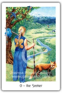 The Seeker (Fool) from the Gaian Tarot