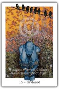Bindweed from the Gaian Tarot by Joanna Powell Colbert