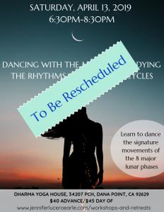 Moon Dance Reschedule